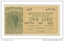 2 LIRE ITALIA LAUREATA 1944 LUOGOTENENZA VENTURA SIMONESCHI GIOVINCO FDS LOTTO 1338 - Italia – 2 Lire