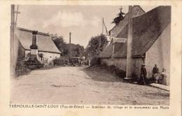 TREMOUILLE-SAINT-LOUP INTERIEUR DU VILLAGE ET LE MONUMENT AUX MORTS ANIMEE - Frankrijk