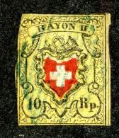 9964  Switzerland 1850 Zumstein #16 II (o)  Michel #8 II - 1843-1852 Federal & Cantonal Stamps