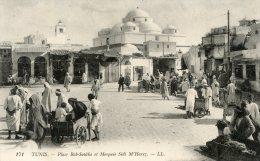 V2283 Cpa Tunisie - Place Bab Souika Et Mosquée Sidi M'Harez - Tunisie