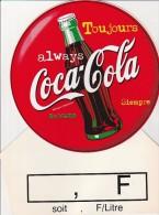 PUBLICITE COCA-COLA -CARTON PLASTIFIE RECTO-VERSO - TB - Coca-Cola