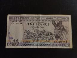 Rwanda : Billet De100 Franc 1982 - Rwanda