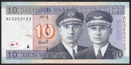 Lithuania 10 Litu 2007 P68 UNC - Lituanie