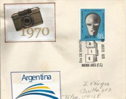ARGENTINE.  Année Internationle De L'Education., Lettre FDC Adressée Au Chili, 1970 - Photography