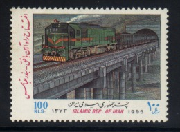 A07 - Iran - 1995 - SG 2849 Mnh - Diesel Goods Train On Bridge - Treni