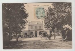 CPA COURVILLE (Eure Et Loir) - La Gare - Courville