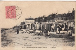 14 - LANGRUNE SUR MER - La Plage, Animé  1905 - France