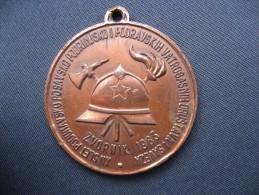 Firefighting Medal From Ex Yugoslavia( Zvornik - Bosnia) - Firemen