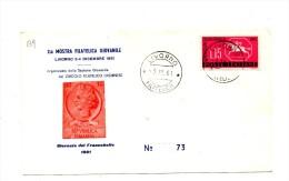Fb139 - ITALIA FDC 1960 , GIORNATA FRANCOBOLLO  A.f  LIVORNO . MOSTRA FILATELICA - 6. 1946-.. Repubblica