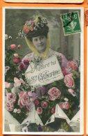 LOL472, Sainte Catherine, Fleur, Rose, Fantaisie, Circulée - Sainte-Catherine