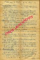 A VOIR-guerre 1914-1918- 318e RI-document Du Colonel MONDANGE-Ordre  Relève 11 Mars 1916-dans L'Oise-Russy Brémont - Historische Documenten