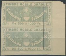 1201 - FRIBOURG Fiskalmarke - Fiscaux