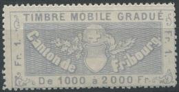 1202 - FRIBOURG Fiskalmarke - Steuermarken
