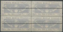 1203 - FRIBOURG Fiskalmarke Im Viererblock - Steuermarken