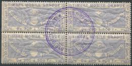 1204 - FRIBOURG Fiskalmarke Im Viererblock - Steuermarken