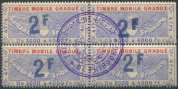 1206 - FRIBOURG Fiskalmarke Im Viererblock