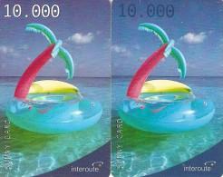 *ITALIA - INTEROUTE* - Coppia Di Schede Usate - [2] Handy-, Prepaid- Und Aufladkarten