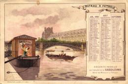 CARTE PUB - 1896 SAXOLEINE - BATEAU A PETROLE - Publicidad