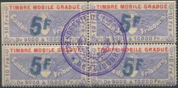 1210 - FRIBOURG Fiskalmarke Im Viererblock - Steuermarken