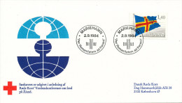 Aland FDC RED CROSS World Peaceconference Mariehamn 2-9-1984 - Rotes Kreuz