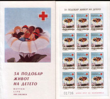 Yugoslavia 1987 Red Cross, Perforated + Imperforated Booklet MNH - Timbres-taxe
