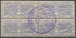 1212 - FRIBOURG Fiskalmarke Im Viererblock - Fiscaux