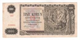 Slovakia // 1939 1000 + Moravia 100 Korun - Slovakia