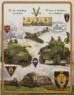 - 50 Ans De LIBERATION De La Belgique- 44/94 + Timbre16Fr.bevrijdong(libération).+oblitération APIFA-FIVEFGI - Feuillets