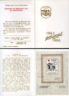 Yugoslavia 1988 Red Cross, Solidarity, Perforated + Imperforated Booklet MNH - Timbres-taxe