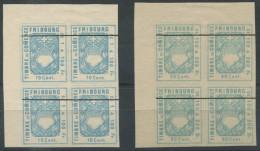 1224 - FRIBOURG Fiskalmarken Im Viererblock - Steuermarken
