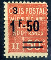 FRANCE COLIS POSTAUX 1926 N° YVERT N° 62  DENTELE NEUF AVEC TRACE DE CHARNIERE - Ongebruikt