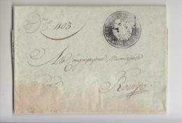 1828 LOMBARDO-VENETO Lettera Da ROVIGO A CITTA'-timbro NEGATIVO Di ROVIGO-e589 - 1. ...-1850 Vorphilatelie