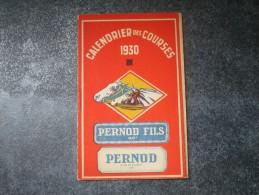 CALENDRIER DES COURSES 1930 - Calendriers