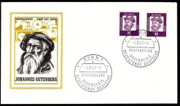 Germany Bonn 1961 Johannes Gutenberg, German Printer, Inventor Of Typography In Europe - [7] Repubblica Federale