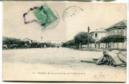 - 12 - Cochinchine - SAIGON - Boulevard Charner Et Hôtel De Ville, Précurseur, écrite, BE, Scans. - Viêt-Nam