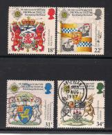 UK, 1987, Cancelled Stamps , Revival Of Order Of The Thistle, 1113-1116, #14475 - Used Stamps