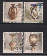 UK, 1987, Cancelled Stamps , Studio Pottery,  1122-1125, #14477 - 1952-.... (Elizabeth II)