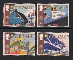 UK, 1988, Cancelled Stamps , EUROPA Transports,  1147-1150, #14526 - Used Stamps