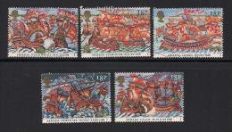 UK, 1988, Cancelled Stamps , Spanish Armada,  1155-1159, #14527 - Used Stamps