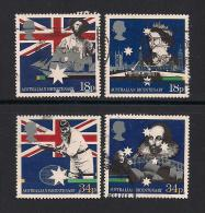 UK, 1988, Cancelled Stamps , Australian Settlement,  1151-1154, #14529 - Used Stamps