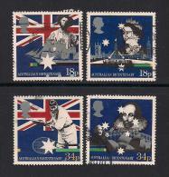 UK, 1988, Cancelled Stamps , Australian Settlement,  1151-1154, #14529 - 1952-.... (Elizabeth II)