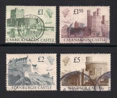 UK, 1988, Cancelled Stamps , Castles,  1174-1177, #14530 - 1952-.... (Elizabeth II)