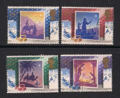 UK, 1988, Cancelled Stamps , Christmas,  1180-1183, #14531 - Used Stamps