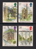 UK, 1989, Cancelled Stamps , Industrial Archaology,  1206-1209, #14534 - Used Stamps