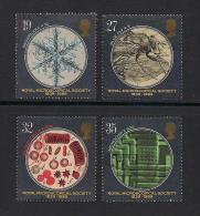 UK, 1989, Cancelled Stamps , Royal Microscopical Society,  1218-1221, #14535 - Used Stamps