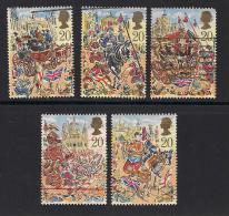 UK, 1989, Cancelled Stamps , Lord Mayor's Show London,  1230-1234, #14536 - Used Stamps