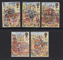 UK, 1989, Cancelled Stamps , Lord Mayor's Show London,  1230-1234, #14536 - 1952-.... (Elizabeth II)