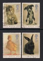 UK, 1990, Cancelled Stamps , Prevention Of Cruelty,  1245-1248, #14537 - Used Stamps