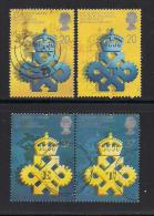 UK, 1990, Cancelled Stamps , Queen's Awards,  1266-1269, #14538 - Used Stamps