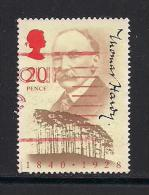 UK, 1990, Cancelled Stamp(s) , Thomas Hardy,  1274, #14540 - Used Stamps